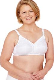 White Non Wired Non Padded Full Cup Mastectomy Bra