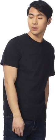Big And Tall Black Logo Embroidered T Shirt
