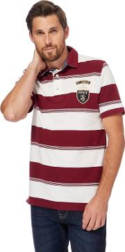 Big And Tall Red Pique Striped Polo Shirt