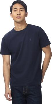 Navy Logo Embroidered T Shirt