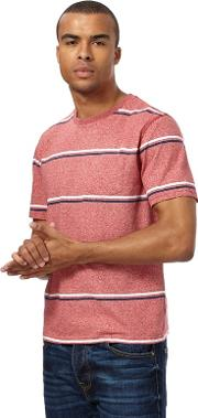 Red Wide Striped T Shirt