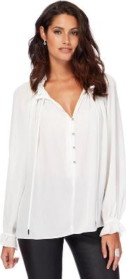 Ivory Frill Blouse