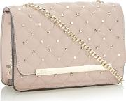 Pink Stud Quilted gigi Cross Body Bags
