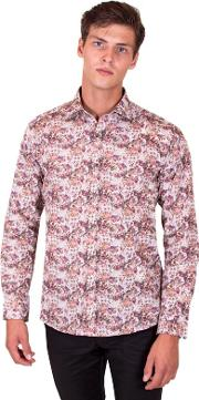 Big And Tall Pink Limited Edition Floral Print Shirt