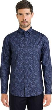 Blue Limited Edition Floral Print Shirt