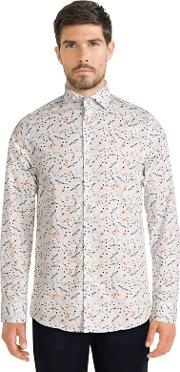 White Limited Edition Dragonfly Print Shirt