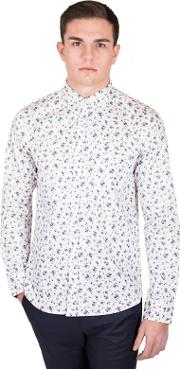 White Limited Edition Mini Floral Print Shirt