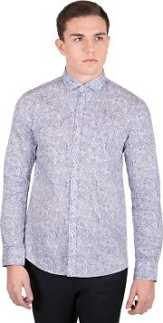 White Limited Edition Paisley Print Shirt