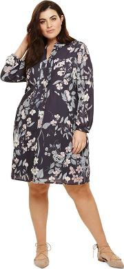 Grey Multi Coloured Kimberley Printed Dress