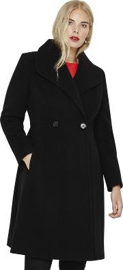 Size 14 To 26 Black Ayda Coat