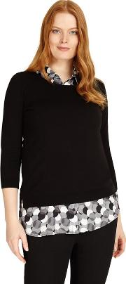 Sizes 12 26 Black And White Sia Knit Top