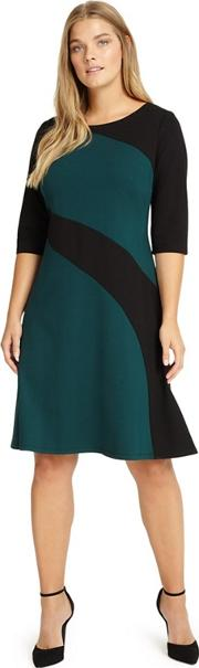 Sizes 12 26 Green And Black Alicia Dress