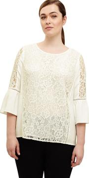 Sizes 12 26 Ivory Anna Lace Blouse