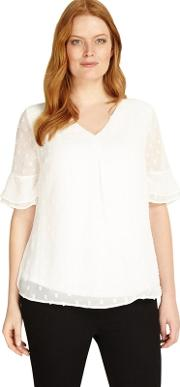 Sizes 12 26 Ivory Lisa Marie Blouse