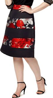 Sizes 12 26 Red And Black Agnese Skirt