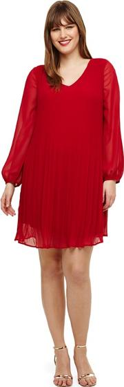 Sizes 14 26 Red Fontaine Tunic Dress