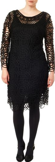 Sizes 16 24 Black Martina Tapework Dress