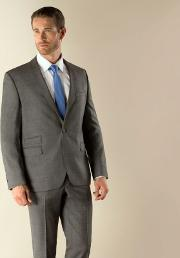 Grey Check 1 Button Modern Fit Suit Jacket