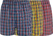 3 Pack Assorted Checked Boxers