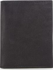 Black Leather Data Protection Lined Card Holder