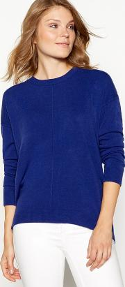 Blue Supersoft Crew Neck Long Sleeve Jumper