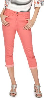 Coral Cropped Jeggings