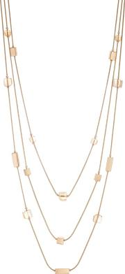 Cube Multi Row Rope Necklace