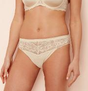 Natural Floral Lace High Leg Knickers