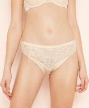 Natural Floral Lace Microfibre High Leg Knickers
