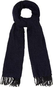 Navy Boucle Scarf