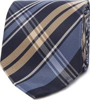 Navy Checked Tie