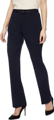 Navy Straight Leg Suit Trousers