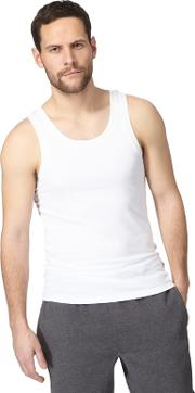 Pack Of Two White Vest Tops