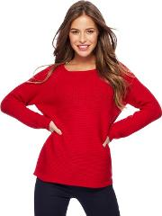 Red Chunky Knit Petite Jumper
