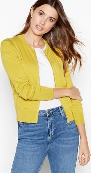 Principles Lime Zip Front Cardigan