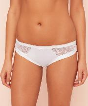 White Floral Lace Brazilian Knickers
