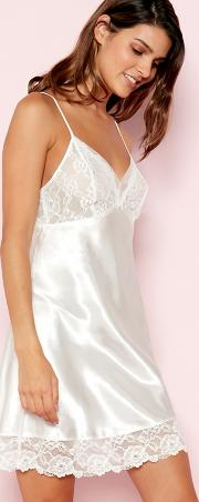 White Floral Lace Chemise