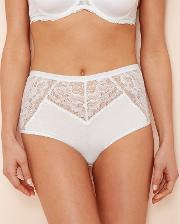 White Floral Lace Full Brief Knickers