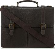 Brown lucas Leather Briefcase