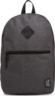 Grey Checked Backpack