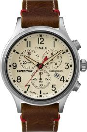 Mens Brown expedition Scout Chronograph Watch Tw4b04300