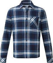 Faded Navy Check Norman Heavy Bonded Flannel Shirt