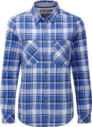 Marina Blue Check Madeline Shirt