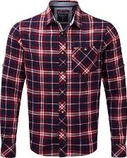 Navy Check Neville Long Sleeve Shirt