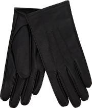 Isotoner Black Leather Invisible Smart Touch Gloves