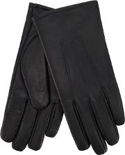 Isotoner Grey Leather Invisible Smart Touch Gloves