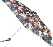 Supermini 3 Section Umbrella With A Photographic Floral Print And A Globe Handle