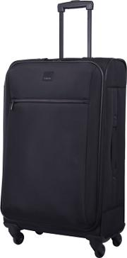 Black full Circle Medium 4 Wheel Suitcase