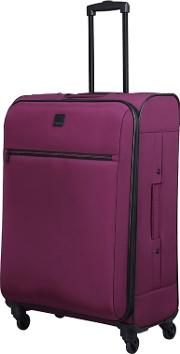 Damson full Circle Medium 4 Wheel Suitcase