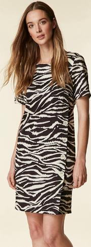 Black Animal Print Shift Dress